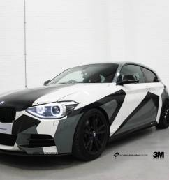 window stickers for cars bmw m135i camo personal vehicle wrap project [ 1999 x 1474 Pixel ]