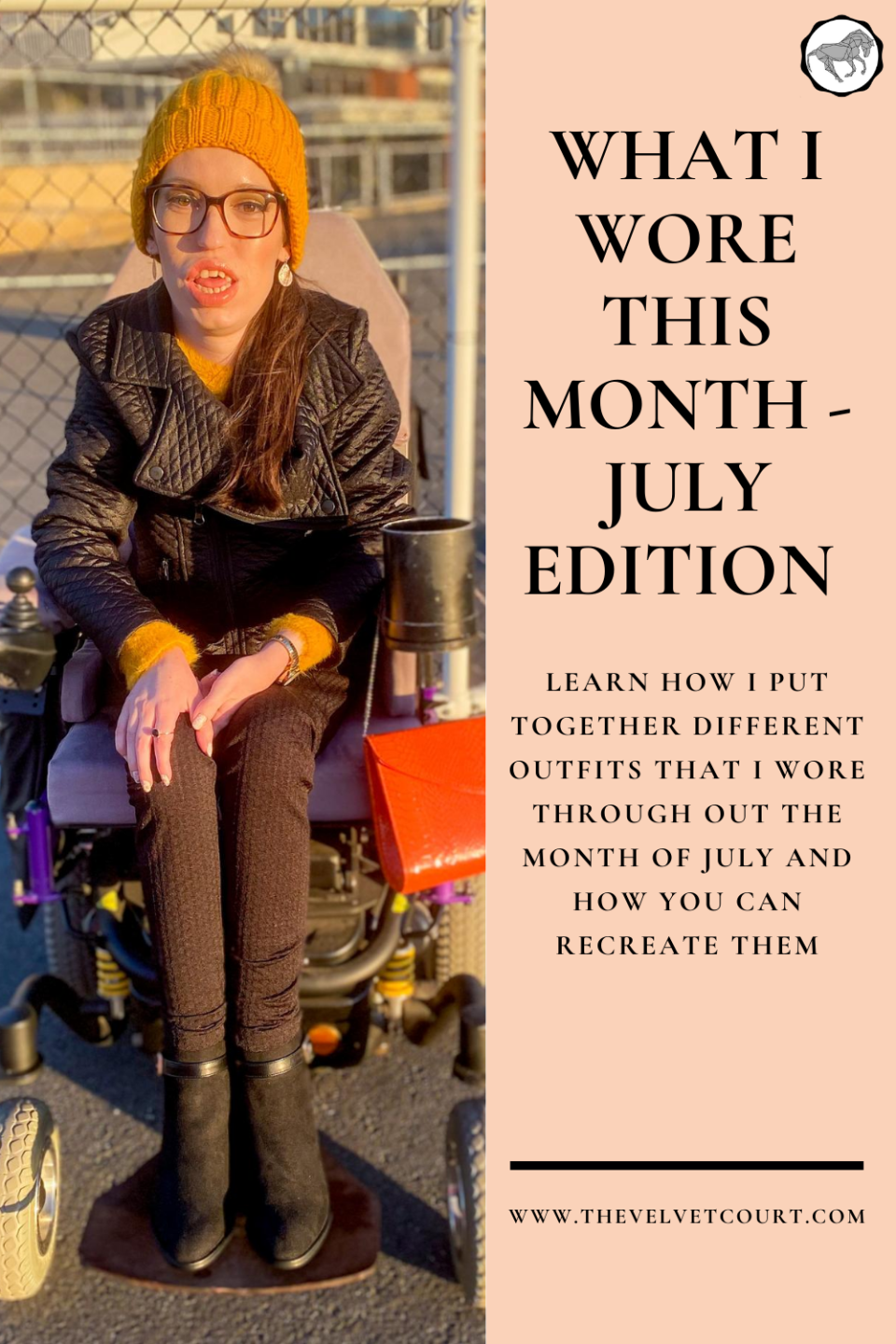 """I share with you a collection of winter race day outfits featuring red, yellow and orange clothes, in the July edition of """"What I Wore This Month""""!"""