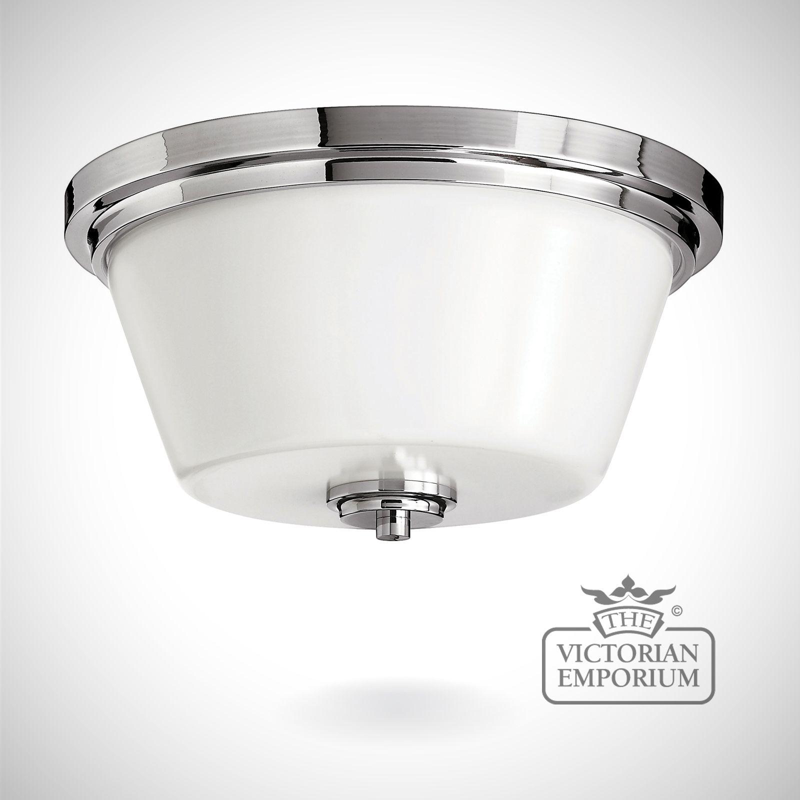 Avon Bathroom flush mount light in polished chrome  Lights