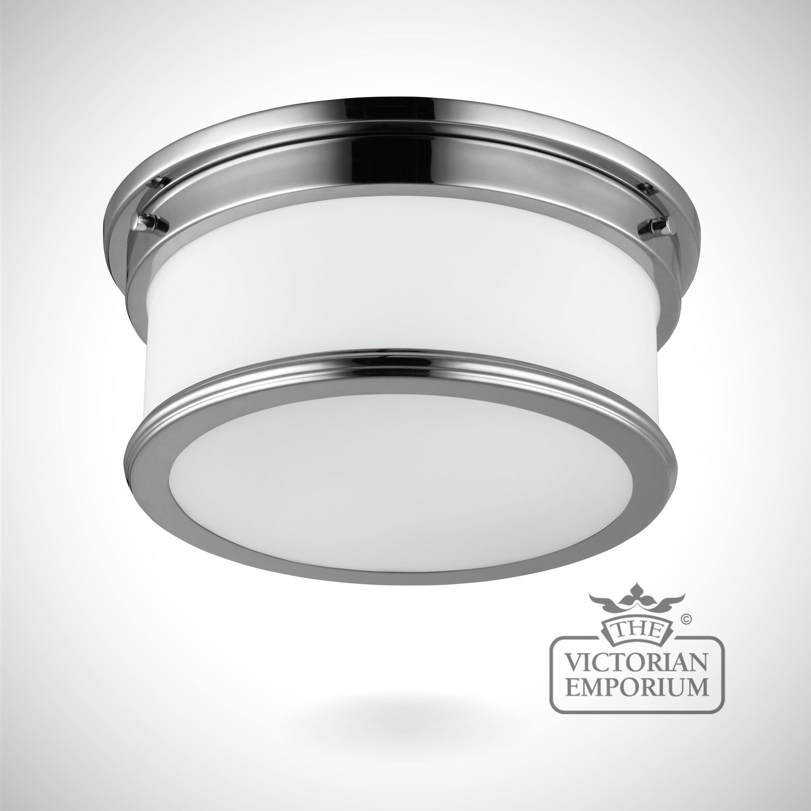 Payne Bathroom flush mount light in polished chrome  Lights