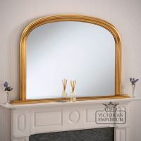 Winchester Overmantel Mirror with gold frame- 119x79cm ...