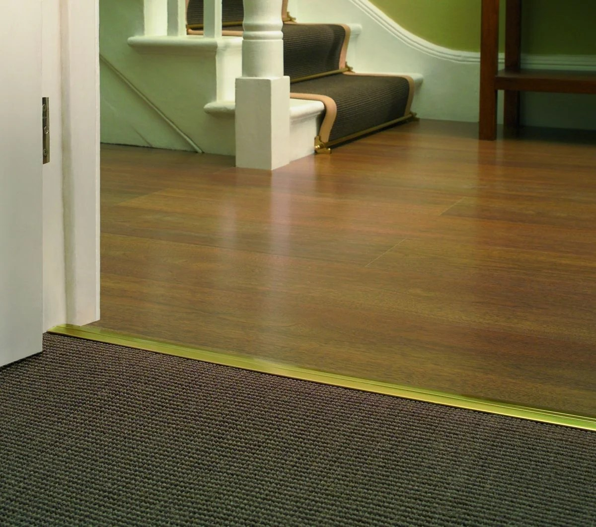Flooring Joining Strips  Stair and hall runner carpet