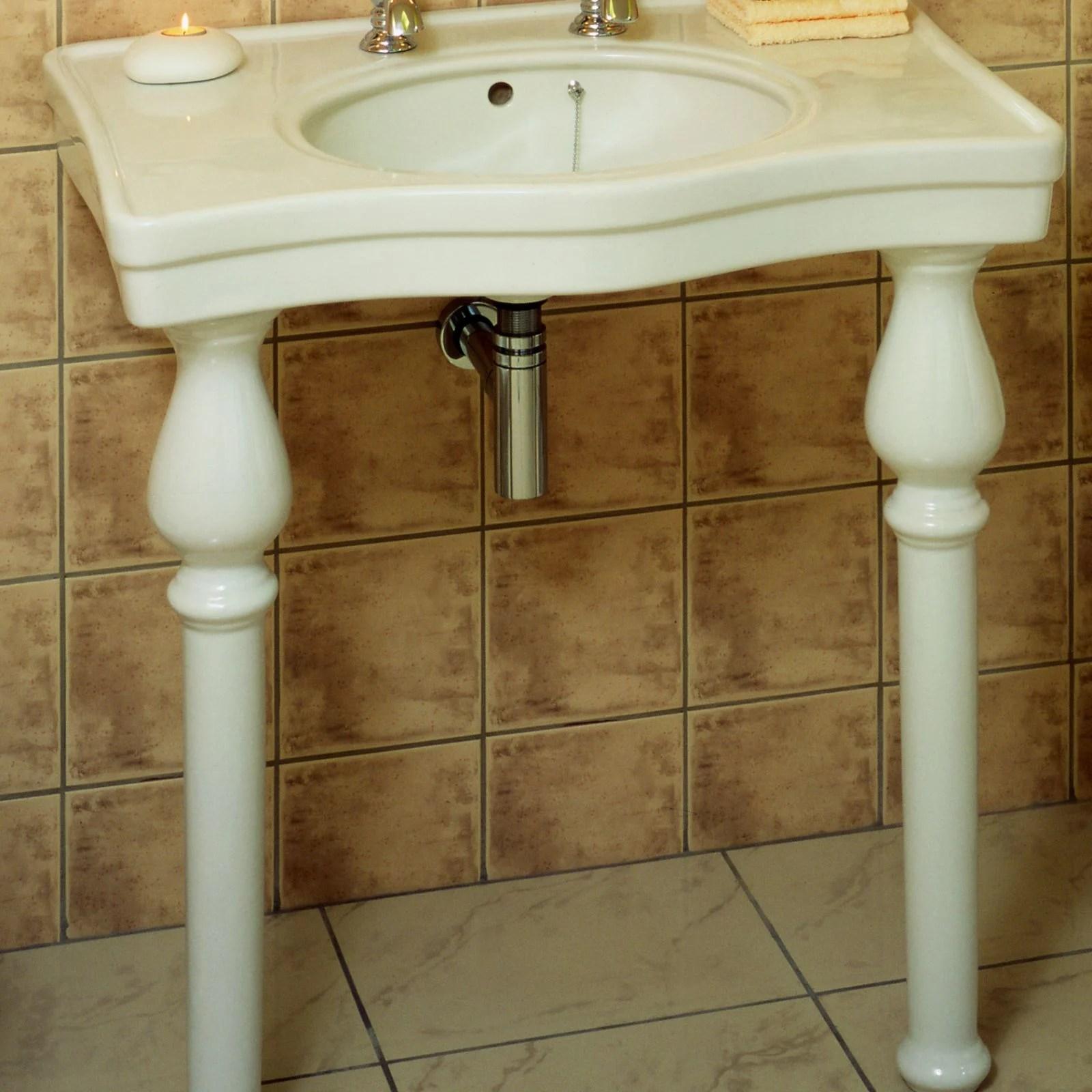 basin with ceramic legs