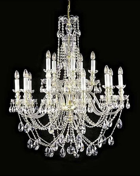 Beautiful large crystal chandelier  Large ceiling chandeliers