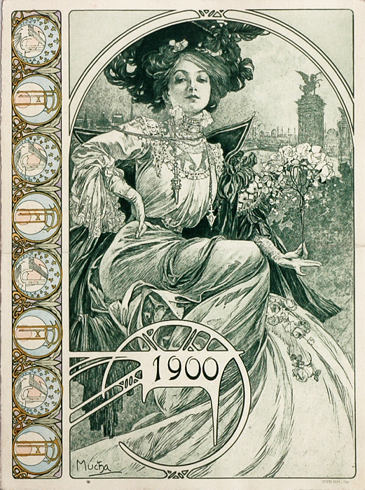 Mixed Girl Quotes Wallpaper Alphonse Mucha Original Bosnian House Booklet Cover For
