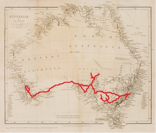 Before he was 27 years old Eyre had covered Australia coast-to coast, buying and selling livestock along the way. My outlines here are essentially (but not absolutely) correct.