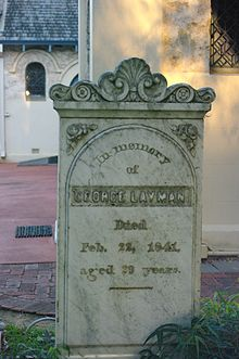 George Layman's headstone at the Vasse.