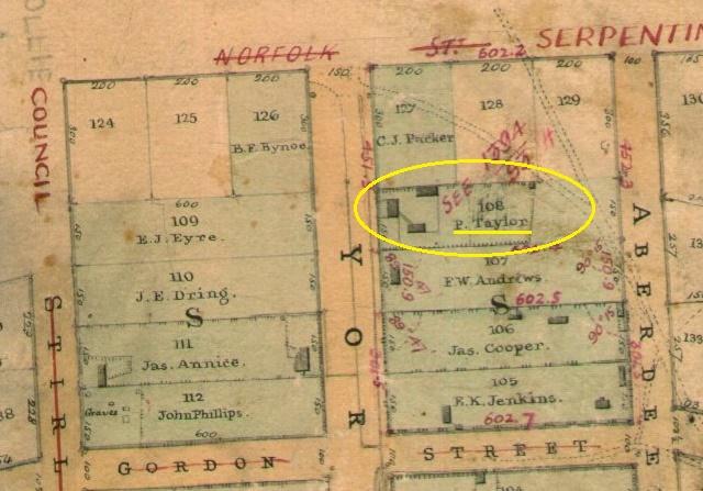 Patrick Taylor Yrk St 108 - Chauncy 1851