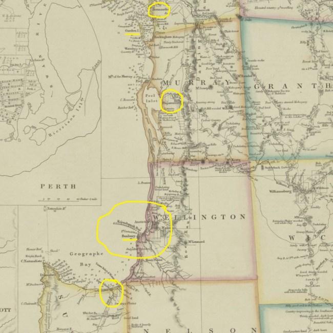 West Coast Arrowsmith Map 1843