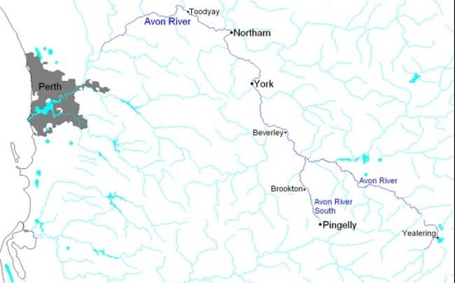 Avon River map