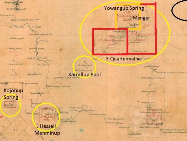 Gregory Field Note Survey 1845-6 Kojonup