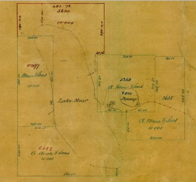 Lake Muir Survey Map 1876