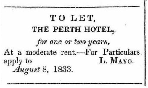 Perth Hotel to Let - 10Aug1833 - PG&WAJ