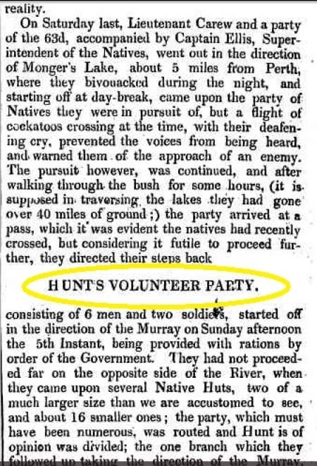 Hunt's Volunteer Party