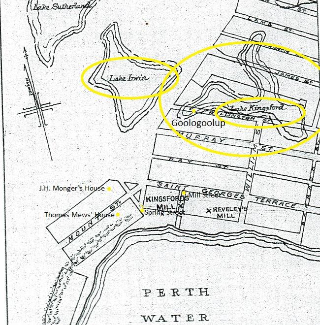 Perth Mills and Lake Kingsford - Goologoolup 1838