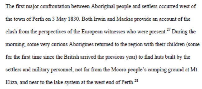 Perth Battle - 3 May 1830 - Hunter thesis excerpt 1