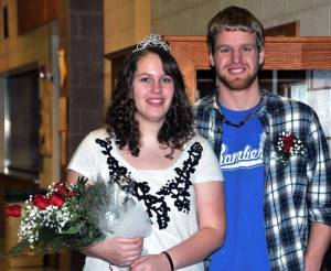 2013 EDON HIGH SCHOOL SWEETHEART KING AND QUEEN Ben Brown and Chelsey Handy.