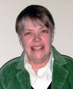 """PRESIDENT ... Pam Lash, President of the Williams County Genealogical Society, presenting """"Let's Blog""""."""