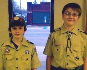 BOY SCOUTS ... Caleb Null & Isaac McKinney