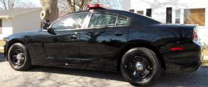 Brand new to the village; the 2013 Dodge Charger police cruiser which is only awaiting lettering before joining the fleet