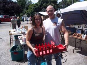 TREASURES ... Sam and Sara Stiles of Alvordton found this treasure at the Pulaski Country Mercantile.