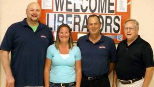From left to right chamber board members Cabe Cordy, Jessica Schultz, Tim Sepesy and Neil Toeppe (2) WEB