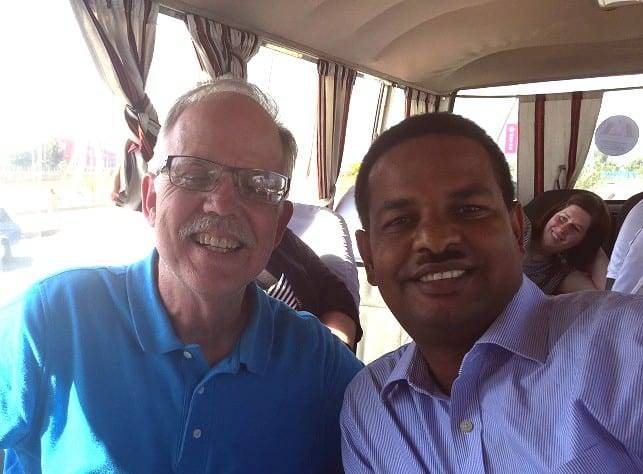 Bill Goodson (left) pictured with Girma Gebremedhin (right), the only Ethiopian Awana missionary in the whole country. He has trained and started over 300 Awana programs across the country.