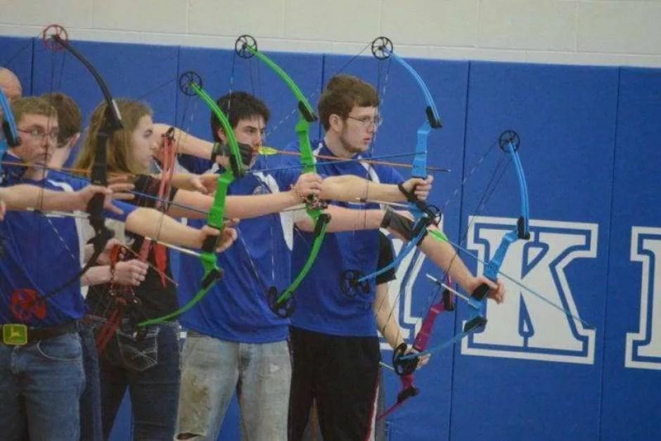 Stryker archers Trevor Zachrich, Brett Johnson, and Andrew Fritch