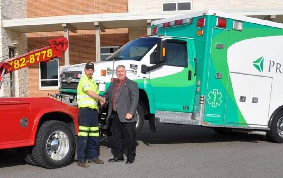 promedica donation-johns towing WEB