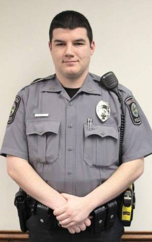 Officer Lee Krusz, promoted to full-time, joined the force on a part-time basis in August of 2015.