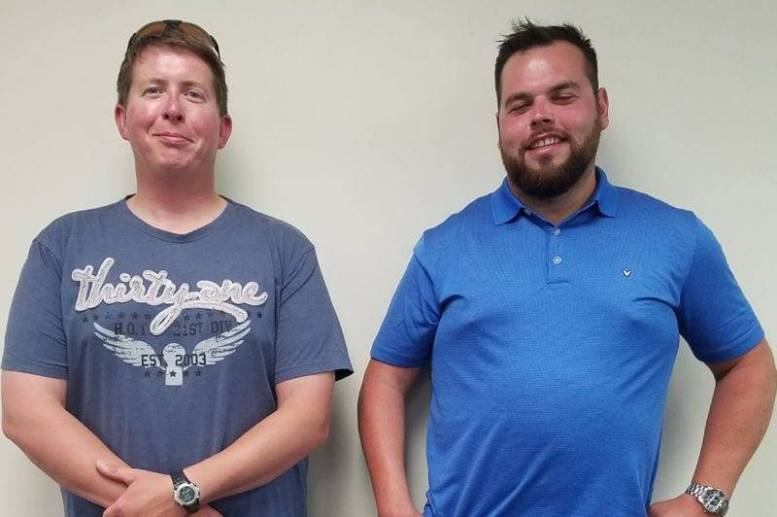 Jeff Harmon (Left) and Cody Crabb were recently hired as Swanton Water Treatment Plant Operators.