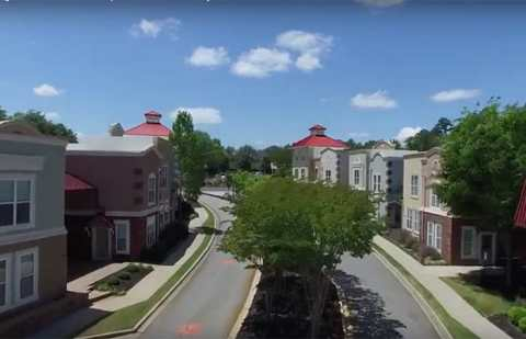 Drone flyover villages at town creek apartments clemson sc