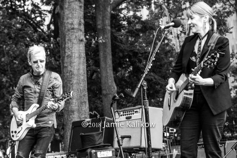 Suzanne Vega and Gerry Leonard wow fans at Bringing It All Back Home to Washington Square