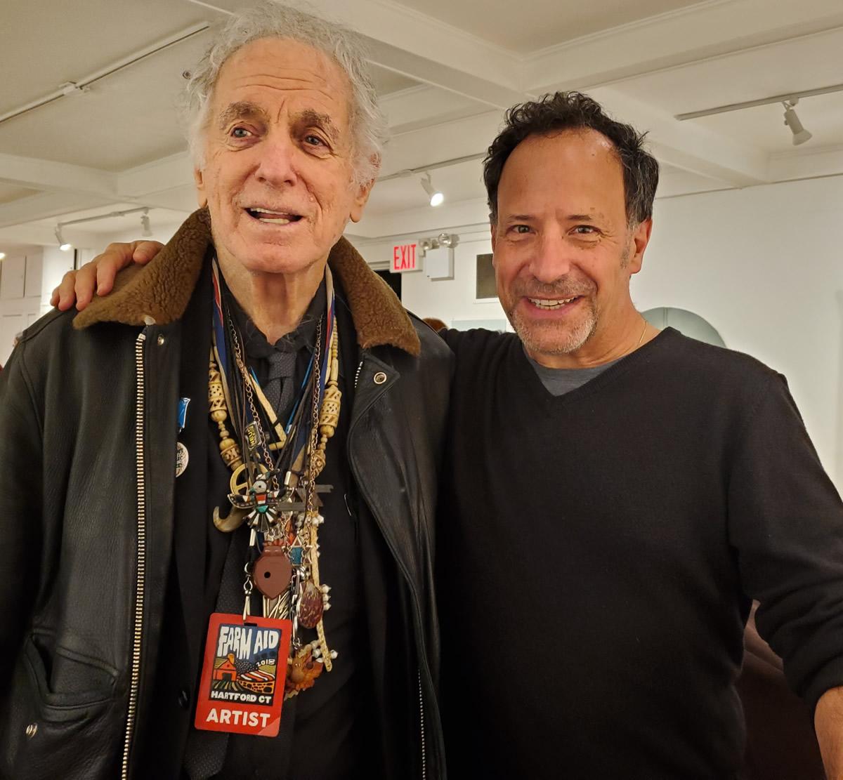 Will Kaufman (right) with The Village Trip Artist Emeritus David Amram (photo Michael Spudic)