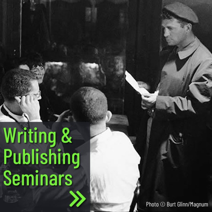New This Year! Village Trip Writing Seminars and Poetry Readings