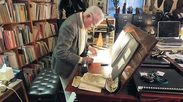 David Del Tredici composing