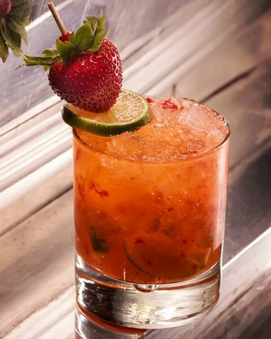 Cocktail Recipe: Strawberry Caipirinha