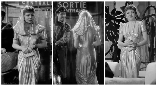 Perfect screencaps of the dress from all angles from The Blonde at the Film!