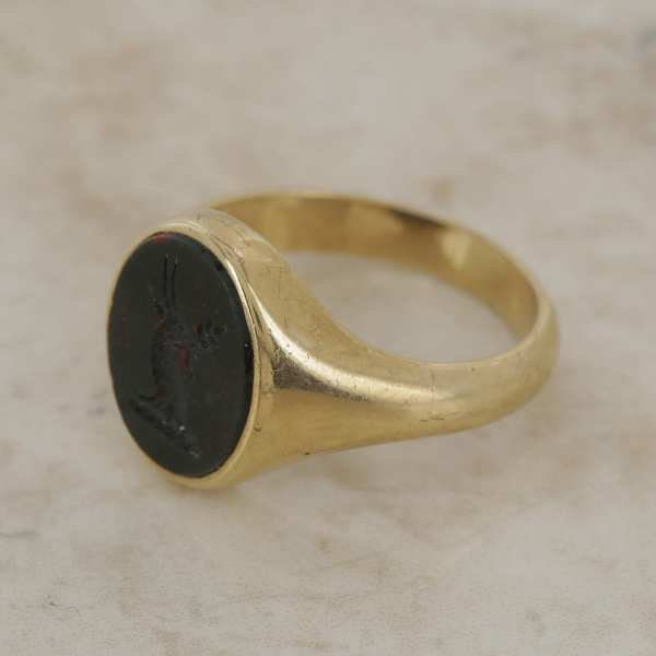 Vintage Blood Stone Signet Ring - Jeweller