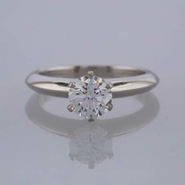Tiffany & . 1.00 Carat Diamond Solitaire Ring