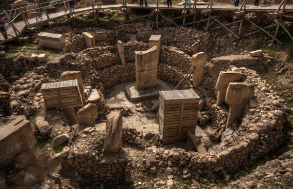 Gobekli Tepe was first identified in 1963 by a turkish-American research group. They noticed several piles consisting of fragments of flint, a sign of human activity in the Stone Age. source