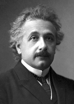 Einstein's official 1921 portrait after receiving the Nobel Prize in Physics Source