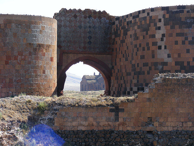 The medieval walls of Ani. Source