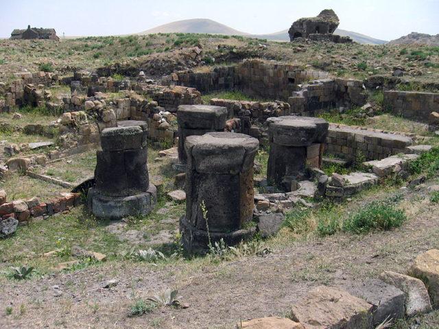Zoroastrian fire temple in Ani. Source