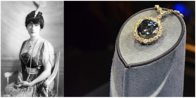 Evalyn Walsh Mc Lean, American socialite and last owner of the Hope diamond. Images by- Wikipedia.Public Domain, m01229. Flickr. CC BY 2.0