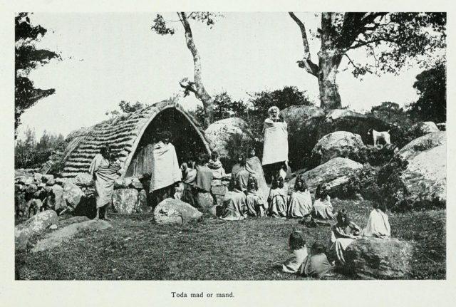 A Toda hamlet or Mund. Edgar Thurston in The Madras Presidency