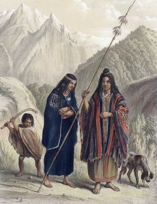 Familia Mapuche, by Claudio Gay, 1848.