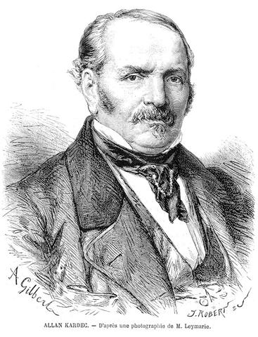 Hippolyte Léon Denizard Rivail (Allan Kardec), founder of the Spiritist religion, which the Umbanda religion takes its roots from. The religion strongly urges Roman Catholicism to venerate Anastacia as a saint. Portrait from L'Illustration, 10 April 1869.