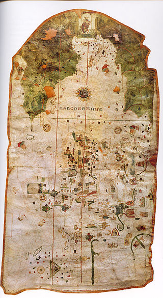 World map of Cosa (1500). Cuba already appears as an island.