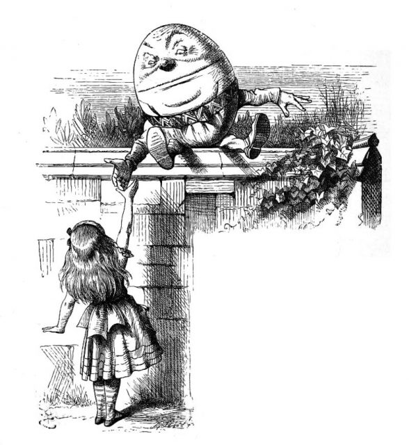 Humpty Dumpty may have been a hunchbacked king, a heavy
